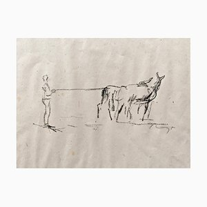 Impressionist Horses No. 9 Lithograph by Max Slevogt, 1911