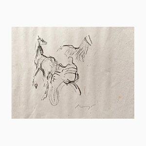 Lithographie Impressionist Horses No. 10 par Max Slevogt, 1911