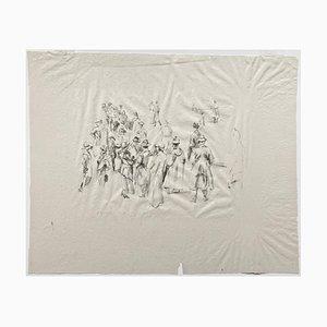 Litografía impresionista Horses No. 11 de Max Slevogt, 1911
