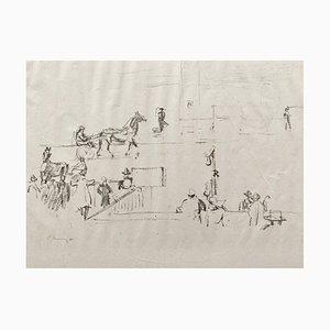 Lithographie Impressionist Horses No. 12 par Max Slevogt, 1911