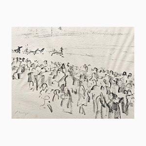 Impressionist Horses No. 13 Lithografie von Max Slevogt, 1911