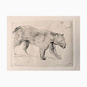 Gravure à l'Eau-Forte Impressionist Cat 1 par Max Slevogt, 1918