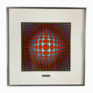 Vega 222 Serigraph by Victor Vasarely, 1970s
