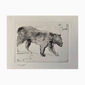 Gravure à l'Eau-Forte Impressionist Cat 2 par Max Slevogt, 1918