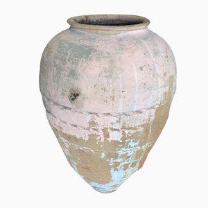 Urna turca antigua grande de terracota