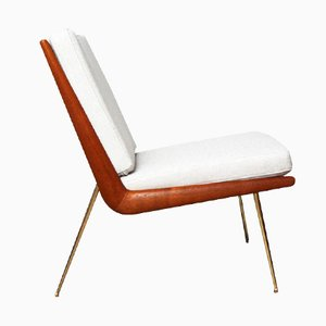 Vintage White Teak Chair by Peter Hvidt for France & Sons