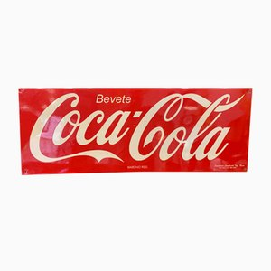 Mid-Century Metal Sign from Coca Cola
