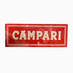 Mid-Century Metal Sign from Campari