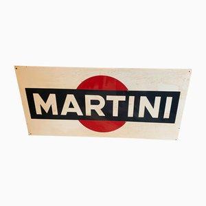 Mid-Century Metallschild von Martini