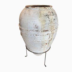 Grande Urne Antique Terracotta avec Support, Turquie