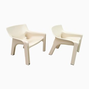 Vicario Lounge Chairs in ABS by Vico Magistretti for Artemide, 1970s, Set of 2