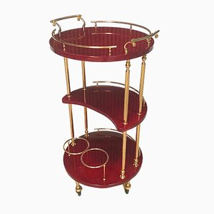 Italian Serving Bar Cart by Aldo Tura, 1960s
