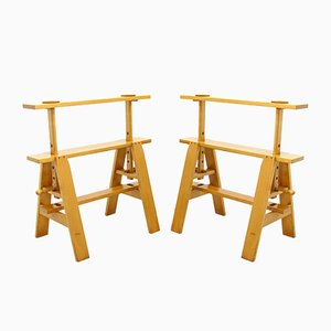 Leonardo Adjustable Working Table Easels by Achille Castiglioni for Zanotta, Italy, 1970s, Set of 2