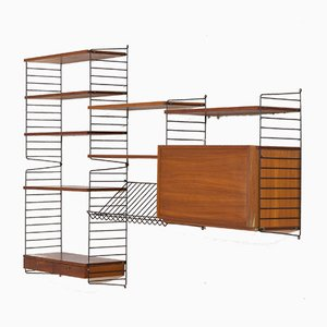 "Wall Unit by Strinning, Kajsa & Nils ""Nisse"" for String, Sweden, 1964"