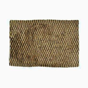 Vintage Swedish Yellow & Brown Wool Rya Weaving Rug, 1960s