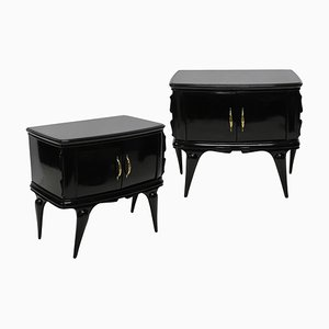Italian Beech Nightstands, 1950s, Set of 2