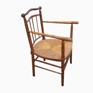 Antique Bamboo Lounge Chair
