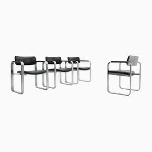 Mid-Century Executive Dining Chairs by Eero Aarnio for Mobel Italia, Set of 4