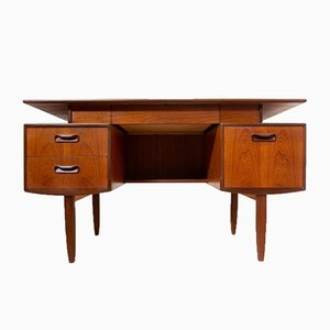 Mid-Century Teak Fresco Desk with Floating Top from G-Plan, 1960s