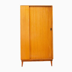 Mid-Century Teak Gentleman's Wardrobe with Tambour Door from Austinsuite