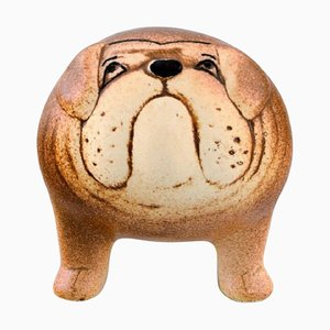Bulldog in Glazed Ceramic by Lisa Larson for K-Studion/Gustavsberg