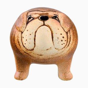 Bulldog in Glazed Ceramic by Lisa Larson for K-Studion/Gustavsberg