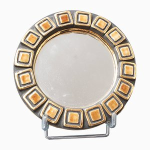 Ceramic Couronnes Wall Mirror by Mithé Espelt, 1950s