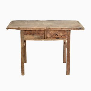 Rustic Elm Console Table, 1920s