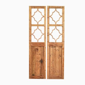 Wooden Door 2-Panel Room Divider, 1950s