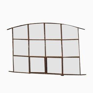 Reclaimed Industrial Window Mirror, 1950s