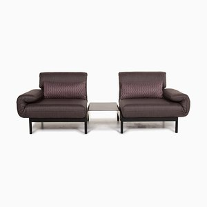 Anthracite Taupe Fabric Plura Relax and Sleeping Function Sofa from Rolf Benz