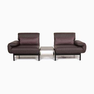 Anthrazitgrauer Plura Relax und Schlaffunktion Sofa von Rolf Benz