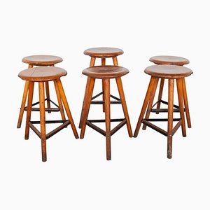 Industrial Stools, 1930s, Set of 6