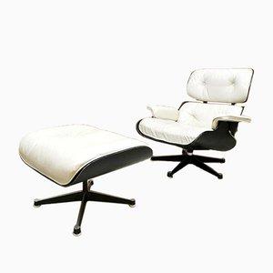Vintage Sessel und Fußhocker von Ray & Charles Eames für Herman Miller, 1950er, 2er Set