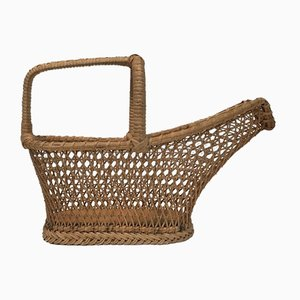 French Rattan Bottle Holder, 1970s