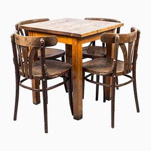 Juego de mesa de bar y sillas de café, años 50