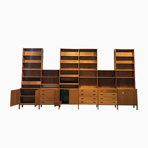 Large Mid-Century Danish Teak Modular Shelving Unit Bookcase, 1970s