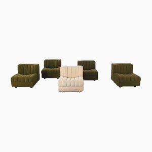 Modern Modular Lounge Chairs by Tito Agnoli for Arflex, 1970s, Set of 5