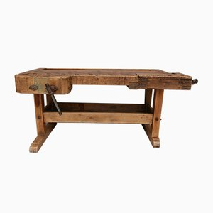 Large Antique Workbench