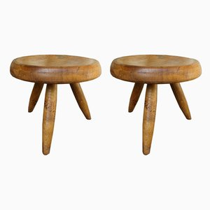 Vintage Berger Stools by Charlotte Perriand for Steph Simon, 1950s, Set of 2