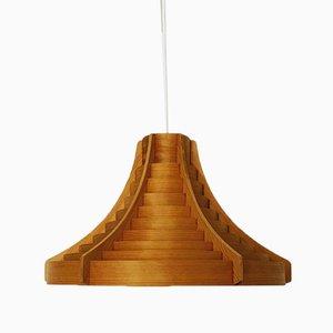 Lámpara colgante de madera de Hans-Agne Jakobsson para Hans-Agne Jakobsson AB Markaryd, años 60