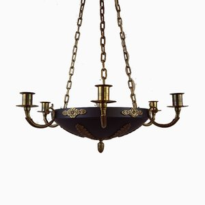 Antique Swedish Karl Johan Empire Style Chandelier