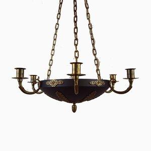 Lustre Karl Johan Style Empire Antique, Suède