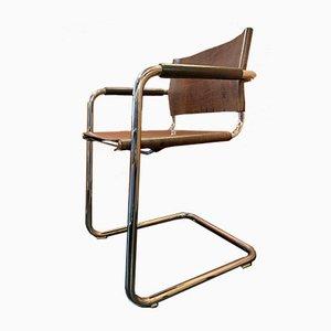 Vintage Bauhaus Stühle mit Stahlrohrgestell von Heinrich Pfalzberger, 4er Set