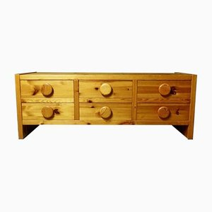 Swedish Pine Chest of Drawers by Inconnu, 1950s