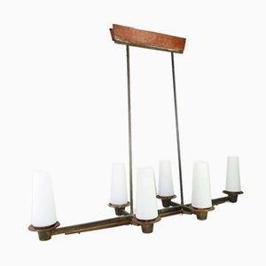 Mid-Century Nordic Teak Ceiling Lamp, 1950s