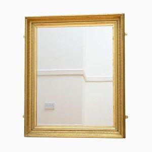 Espejo de pared francés antiguo de madera dorada
