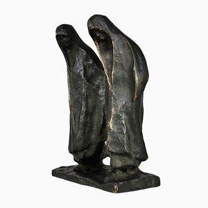 Sculpture Orientaliste Maure de Hautot Antique en Bronze