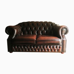 Vintage Chesterfield Sofa in Brown Leather from Centurion