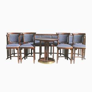Antike Stühle & Sofa Set von Josef Hoffmann für Thonet, 8er Set